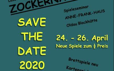 Zockernacht 2020 – Save the Date